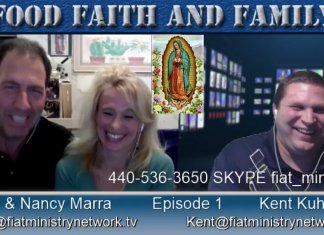 John and Nancy Marra, dinner table, Faith Food and Family, Catholic Podcast